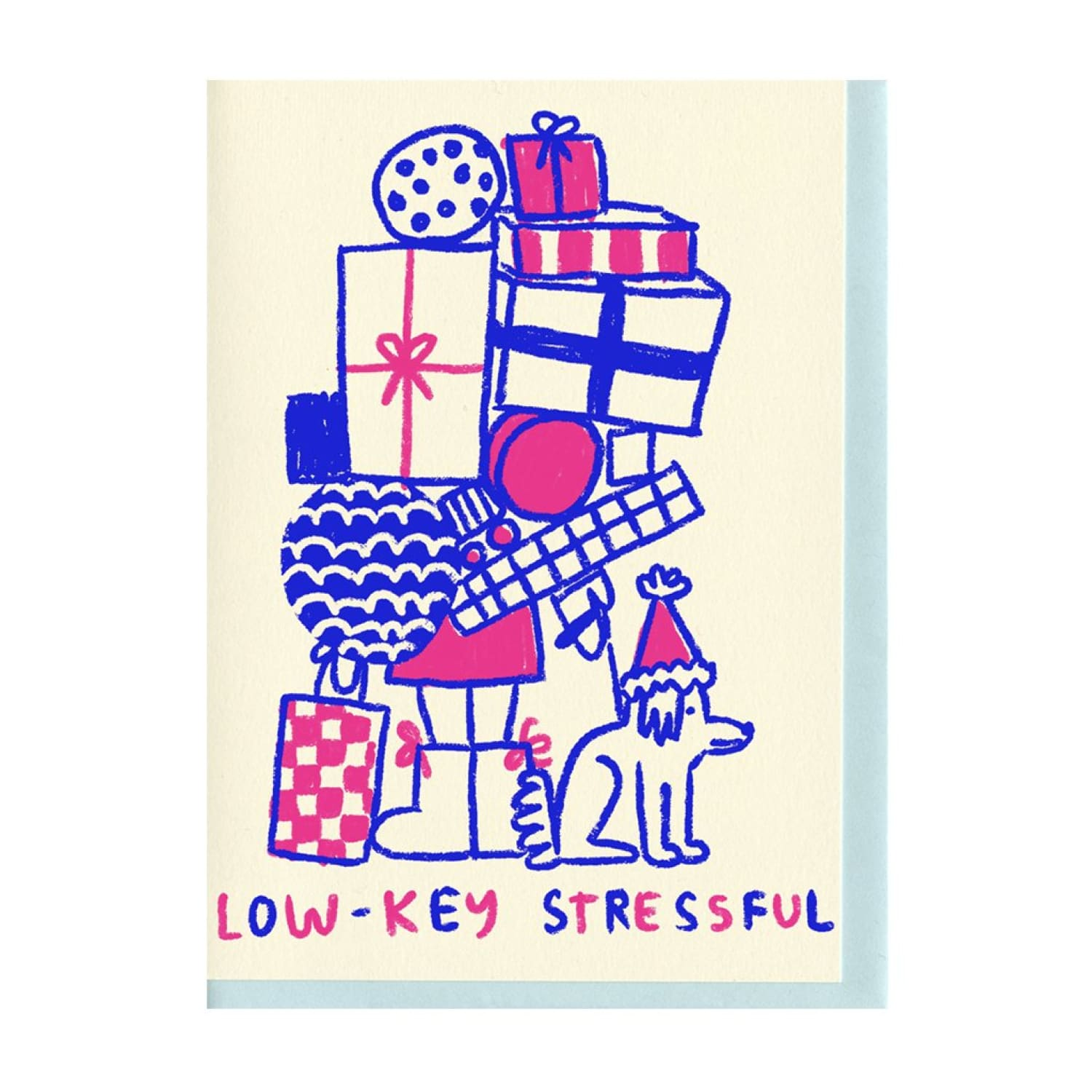 Low-key Stressful Holiday Card Blank Card, Cards, Christmas,