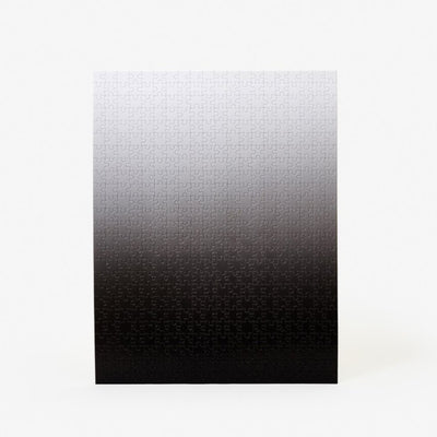 Medium Gradient Puzzle - Black/White