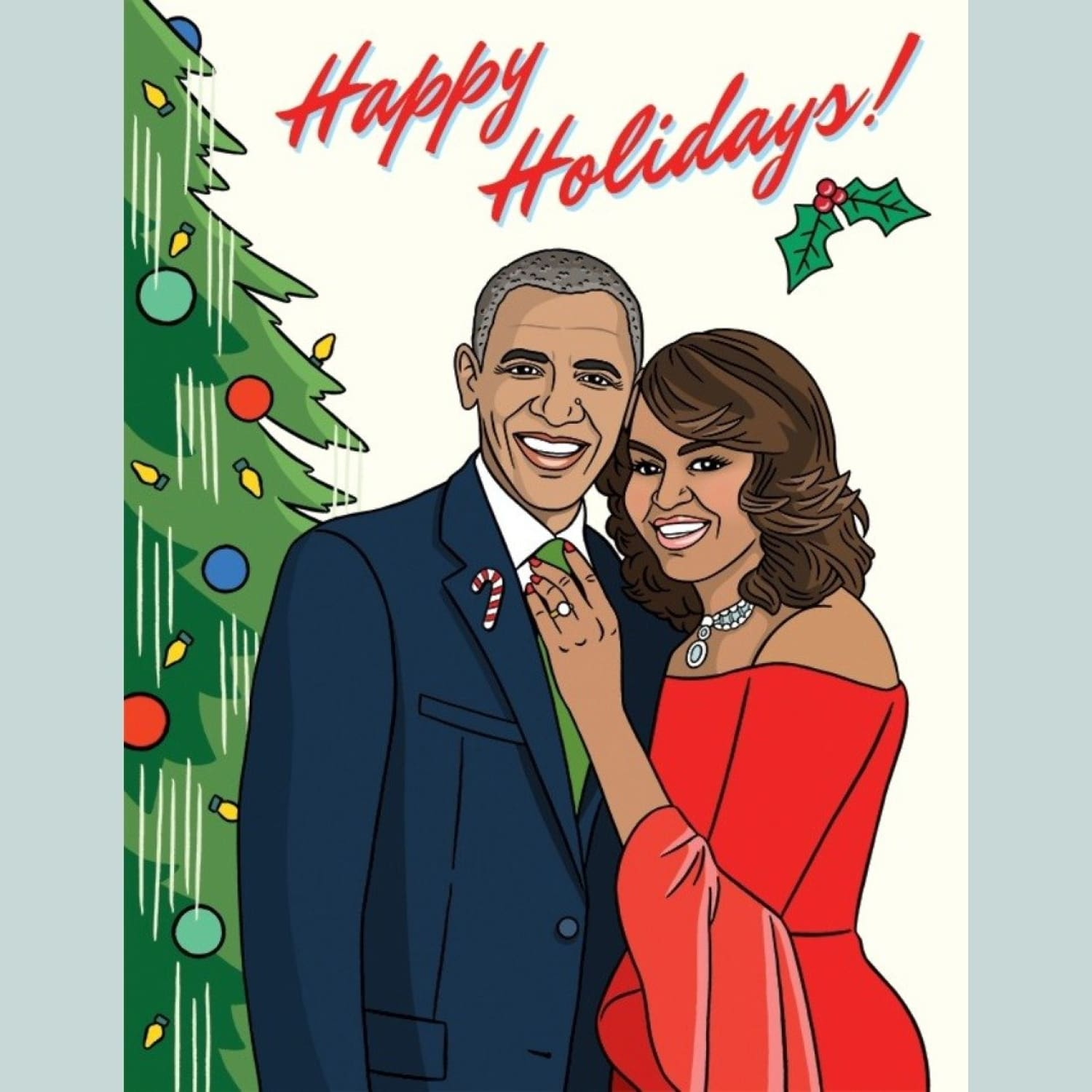 Obamas Holiday Card Christmas Cards - Holiday 2020 - Cards -