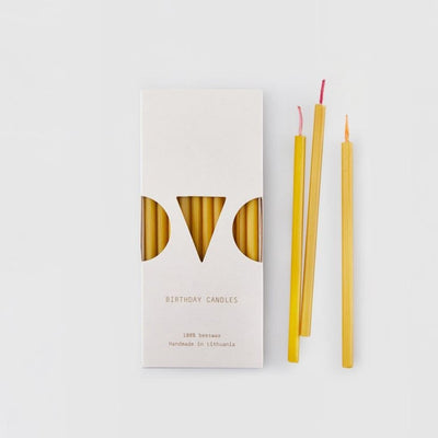 Ovo Things Skinny Birthday Candles Beeswax, Birthday,
