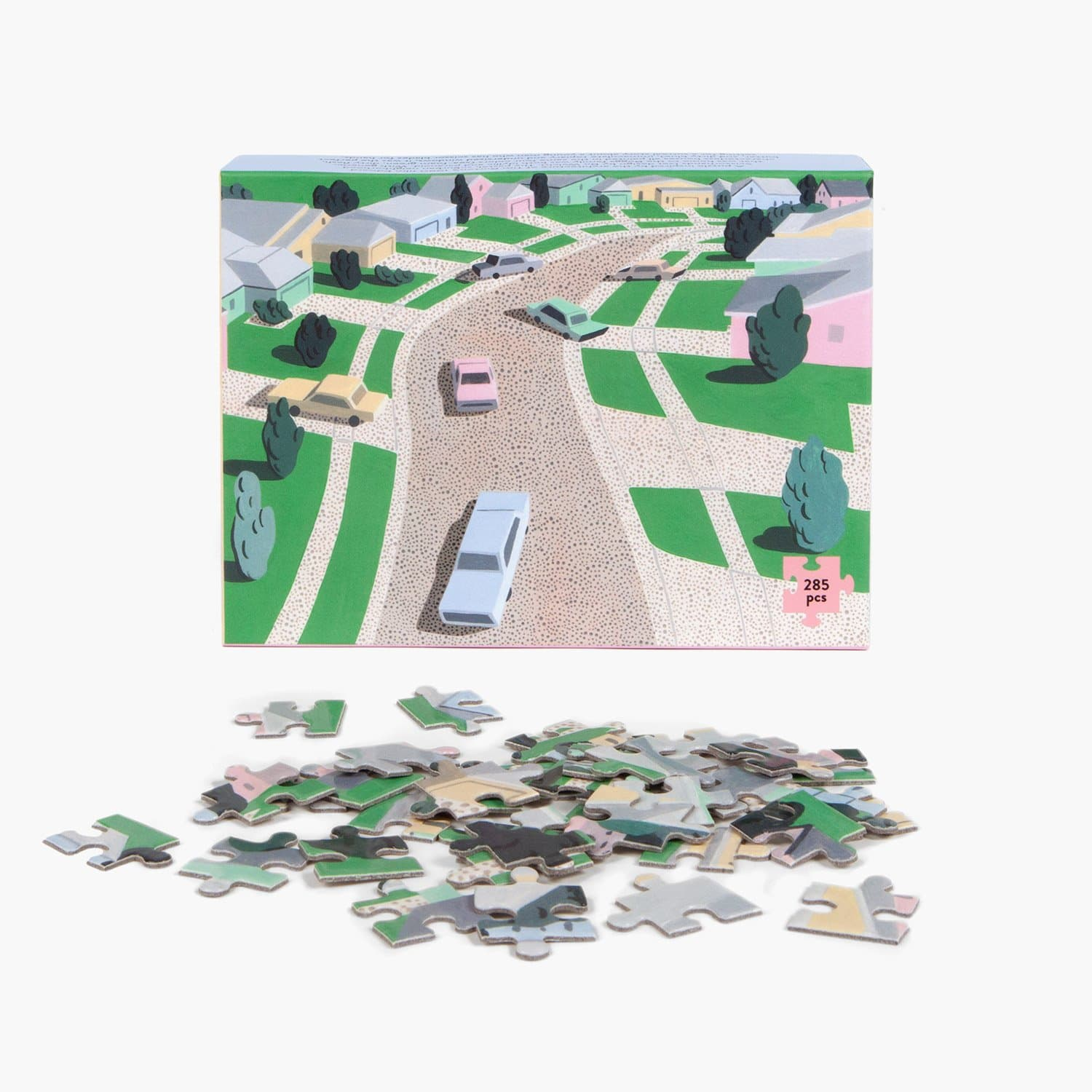Pastel Suburbia Puzzle Activities, Arc Puzzle, Art Crafting,