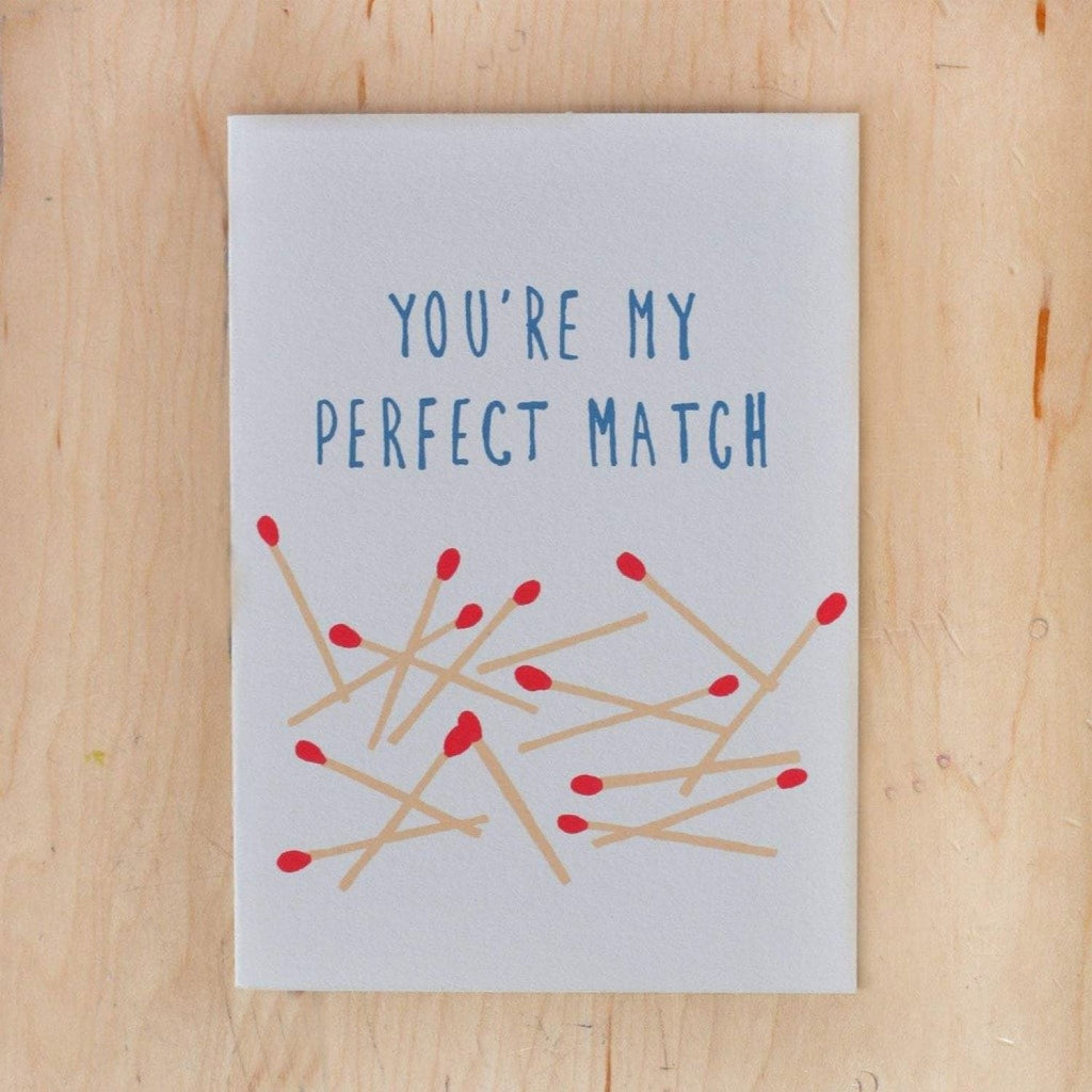 Perfect Match Greeting Card Anniversary, Blank Card, Cards,