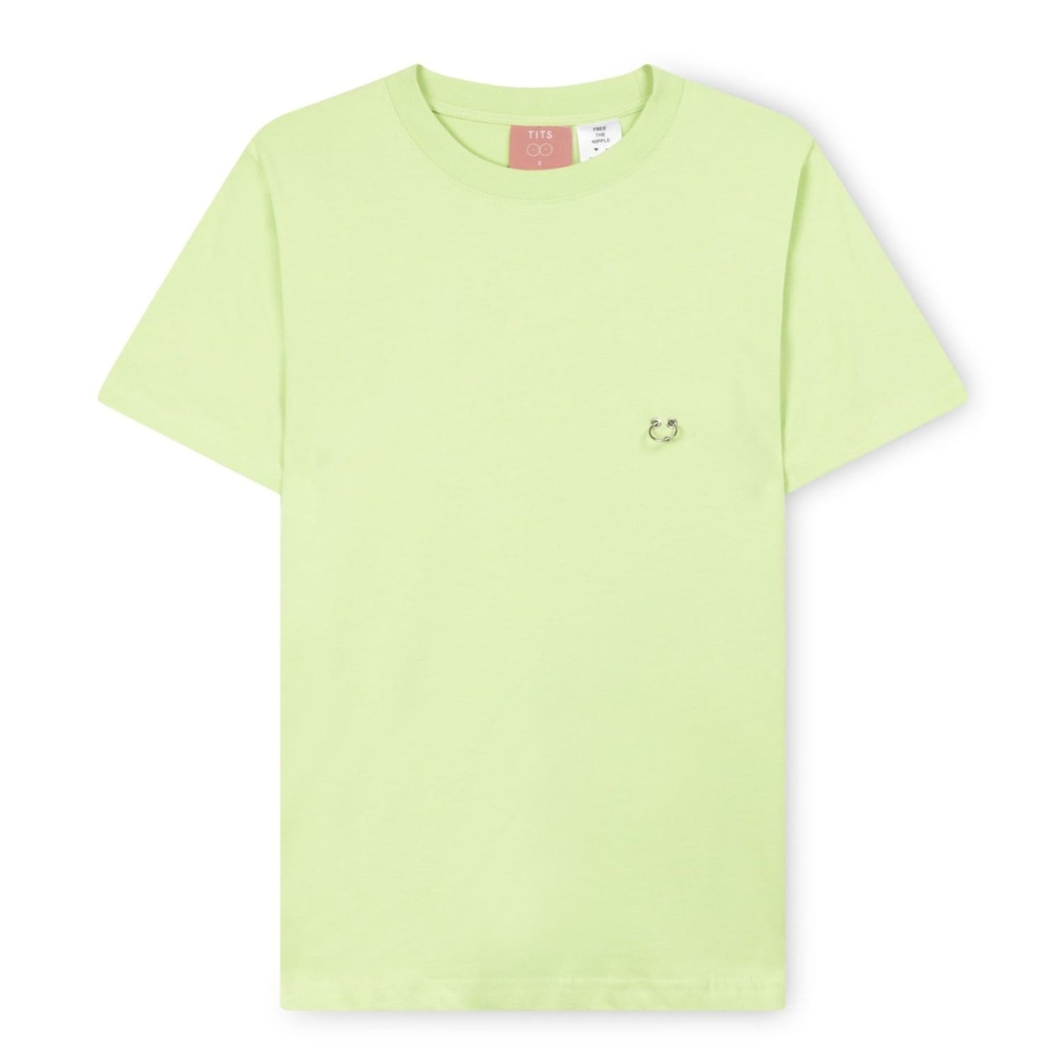 Pierced Tee - Lime Green Amsterdam - Boobs - Breasts -