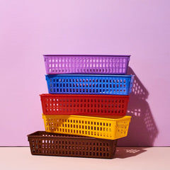 Plastic Baskets - Multicolor Cute N Collected Xmas - Desk -