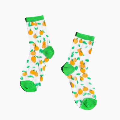 Poketo Sheer Oranges Socks