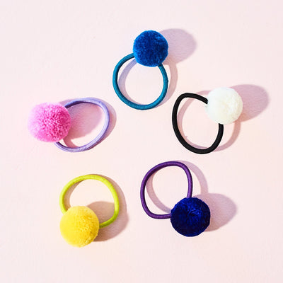 Pompom Hair Elastic - Assorted