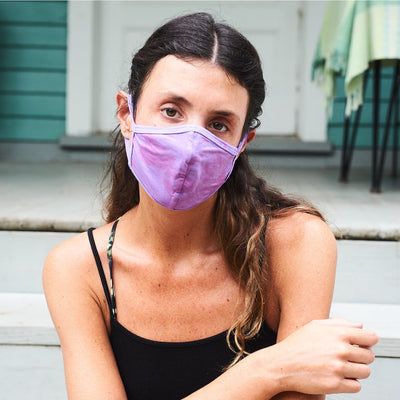 Purple Tie Dye Face Mask Face Mask - Safety - Tie Dye
