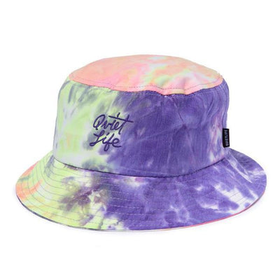 Quiet Life Neon Tie Dye Bucket Hat