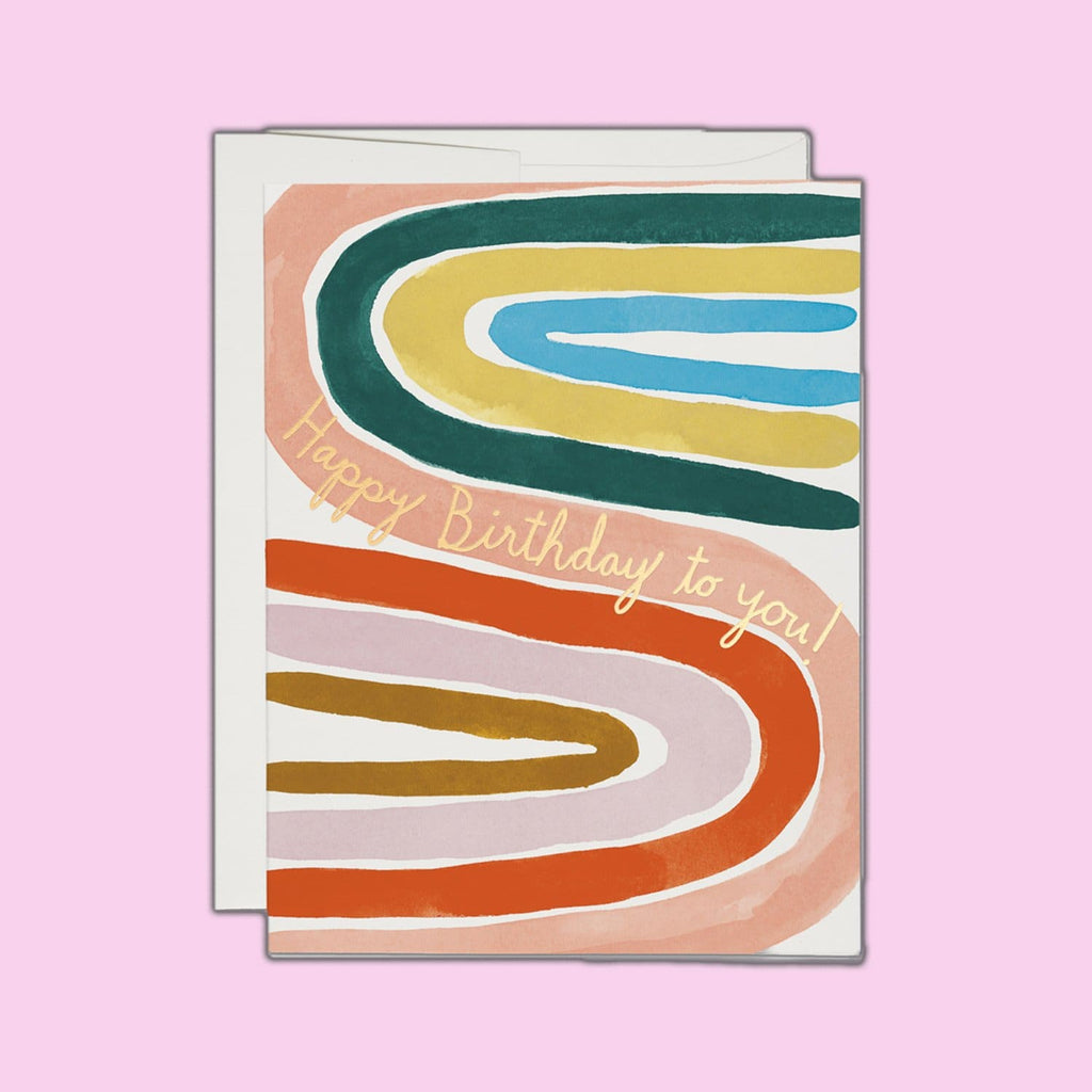 Rainbow Foil Happy Birthday Card Groupbycolor