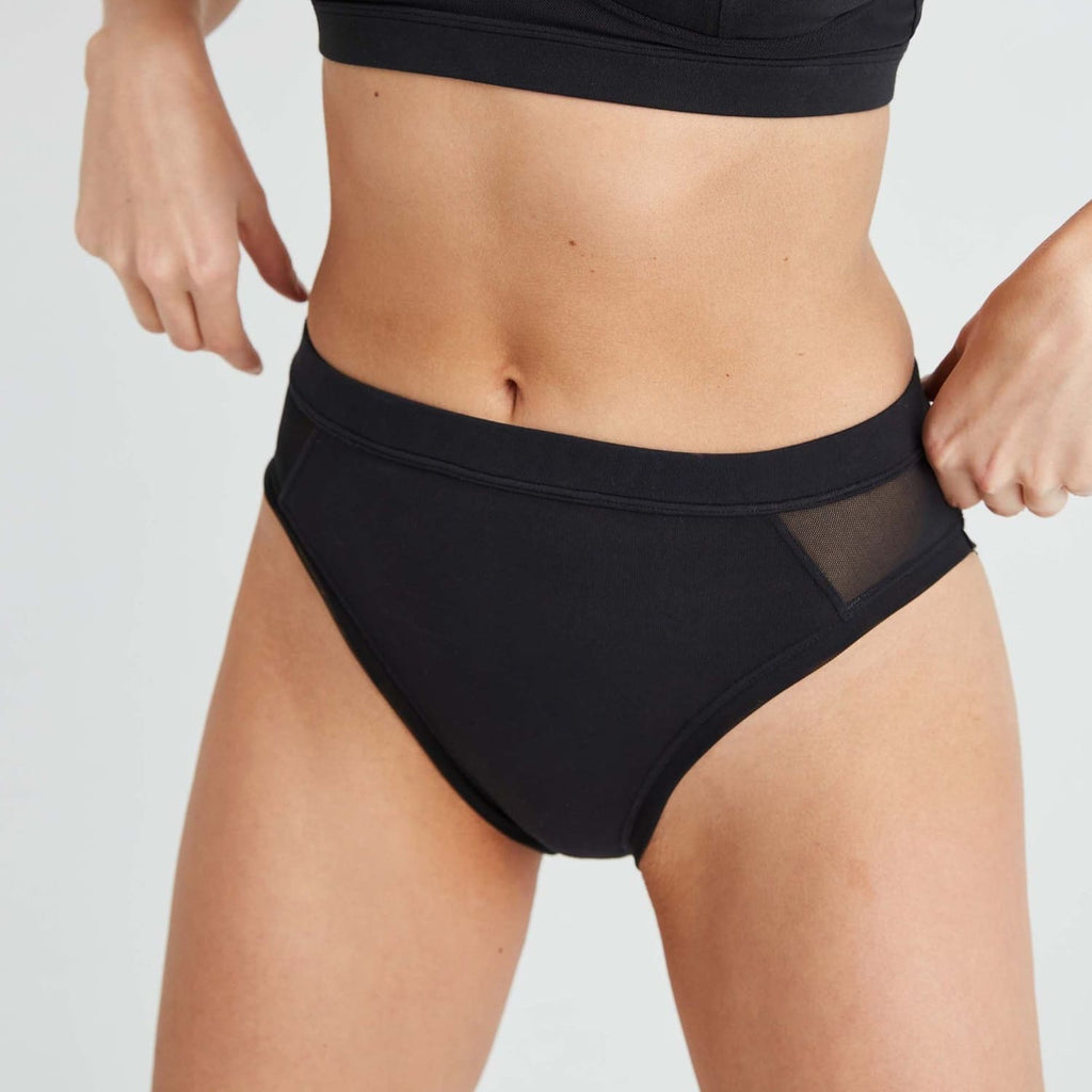 Richer Poorer High Cut brief - Black Black, Brief, Briefs,