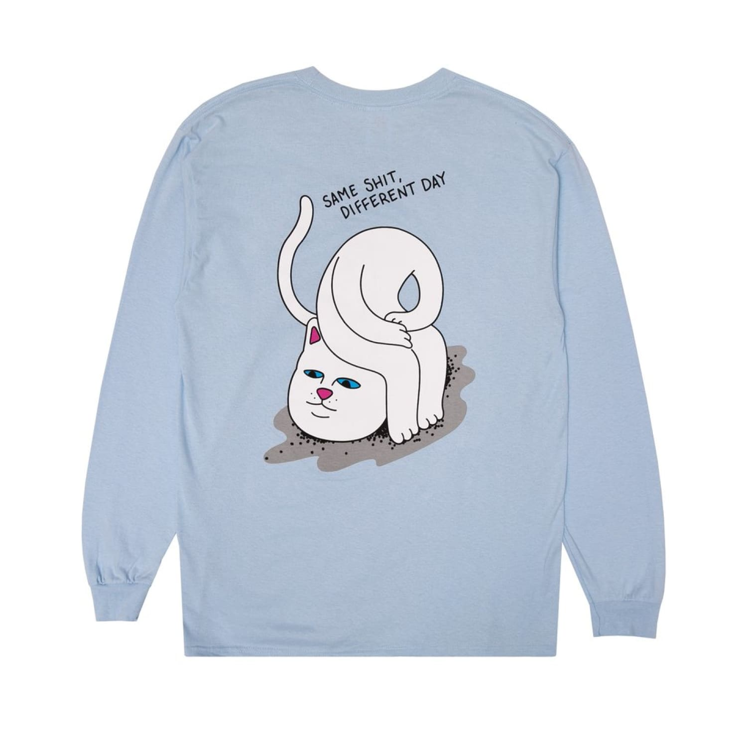 Ripndip Losing my Head Long Sleeve Tee Baby Blue, Cat, Long