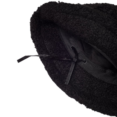 Sherpa Bucket Hat - Black Black - Hat - Bucket - Fall - Hats