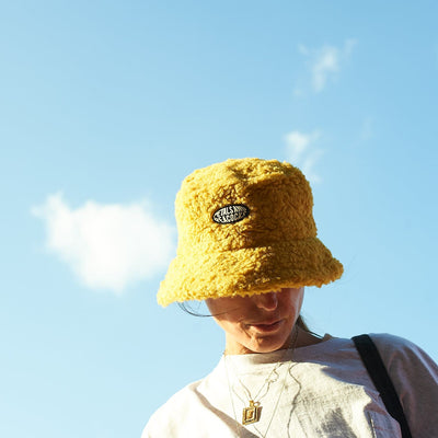 Sherpa Bucket Hat - Yellow