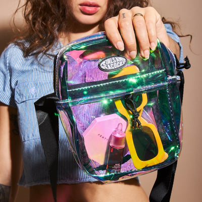 Shoulder Bag - Clear Iridescent
