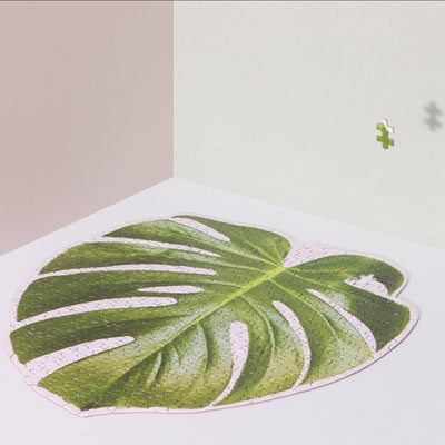 Slow Puzzle - Monstera Activities, Art Puzzle, Crafting,