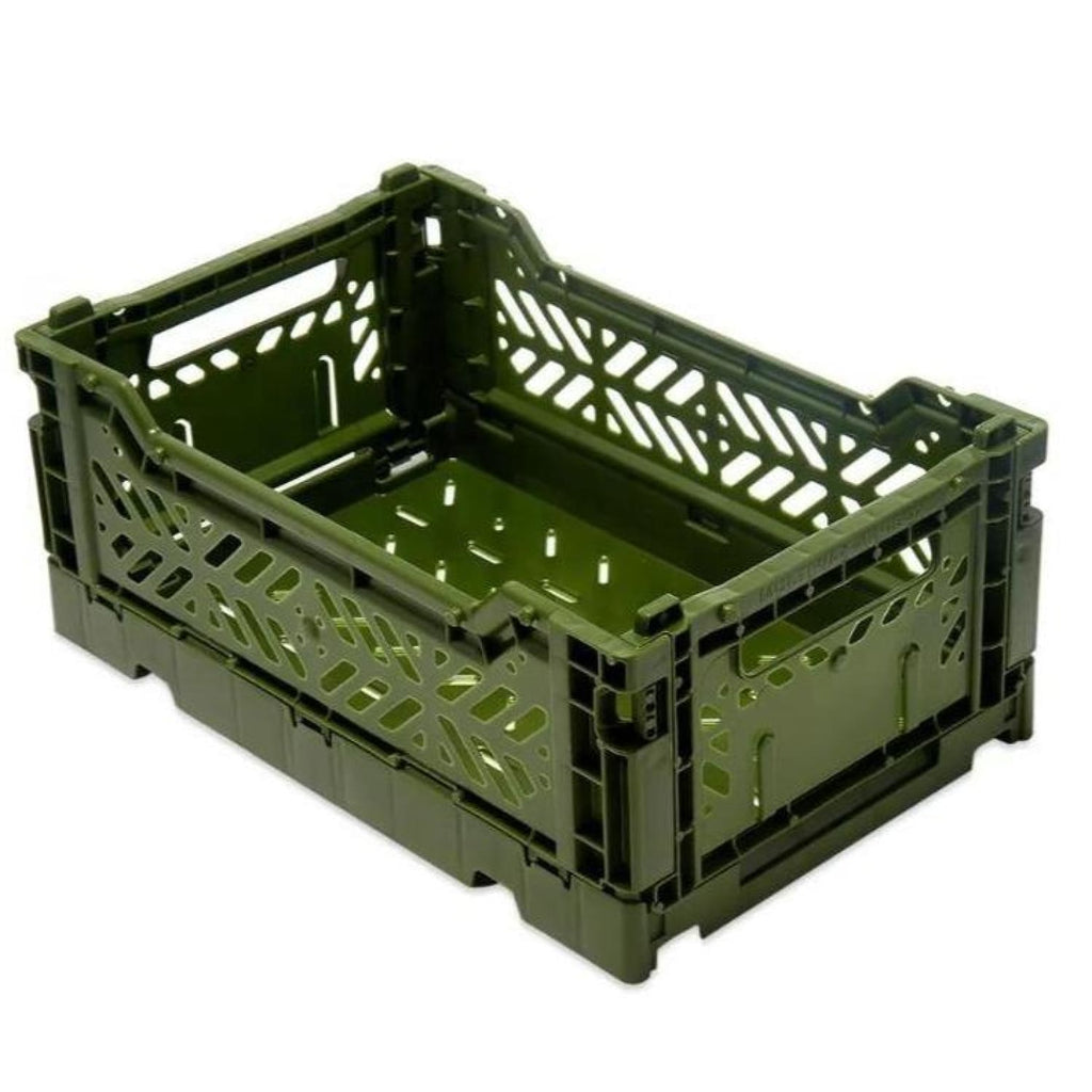 Small Color Crate - Khaki Container, Crate, Decor, Hay,