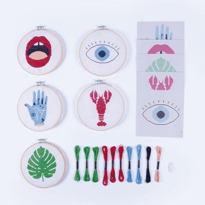 Stitch it Embroidery Kit Crafting, Diy Kit, Doiy,