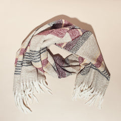 Striped Scarf Cold Weather - Scarf - Striped - Vif Acc -