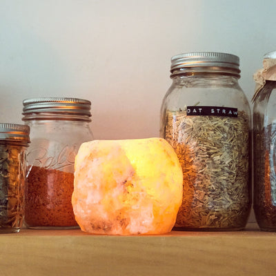 Tea Light Salt Candle Holder