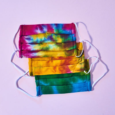Tie Dye Face Mask - Multicolor