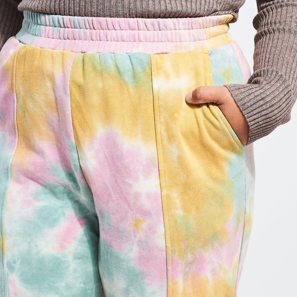 Tie Dye Sweat Pants Casual - Leisure - Multicolor -