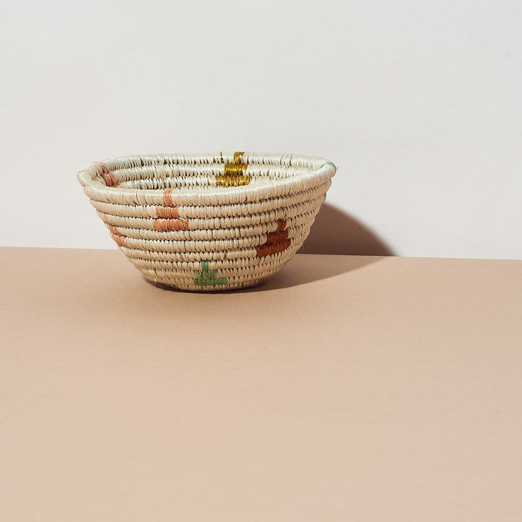 Tiny Catch All Desert Flower Basket - Catchall - Desk