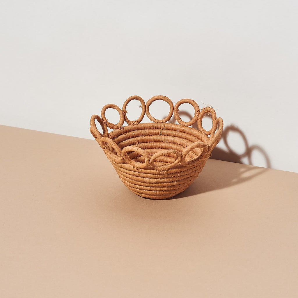 Tiny Hopped Rafia Basket