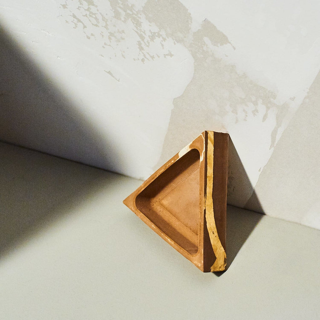 Triangle Incense Burner Burn - Earth/gold - Home - Fragrance
