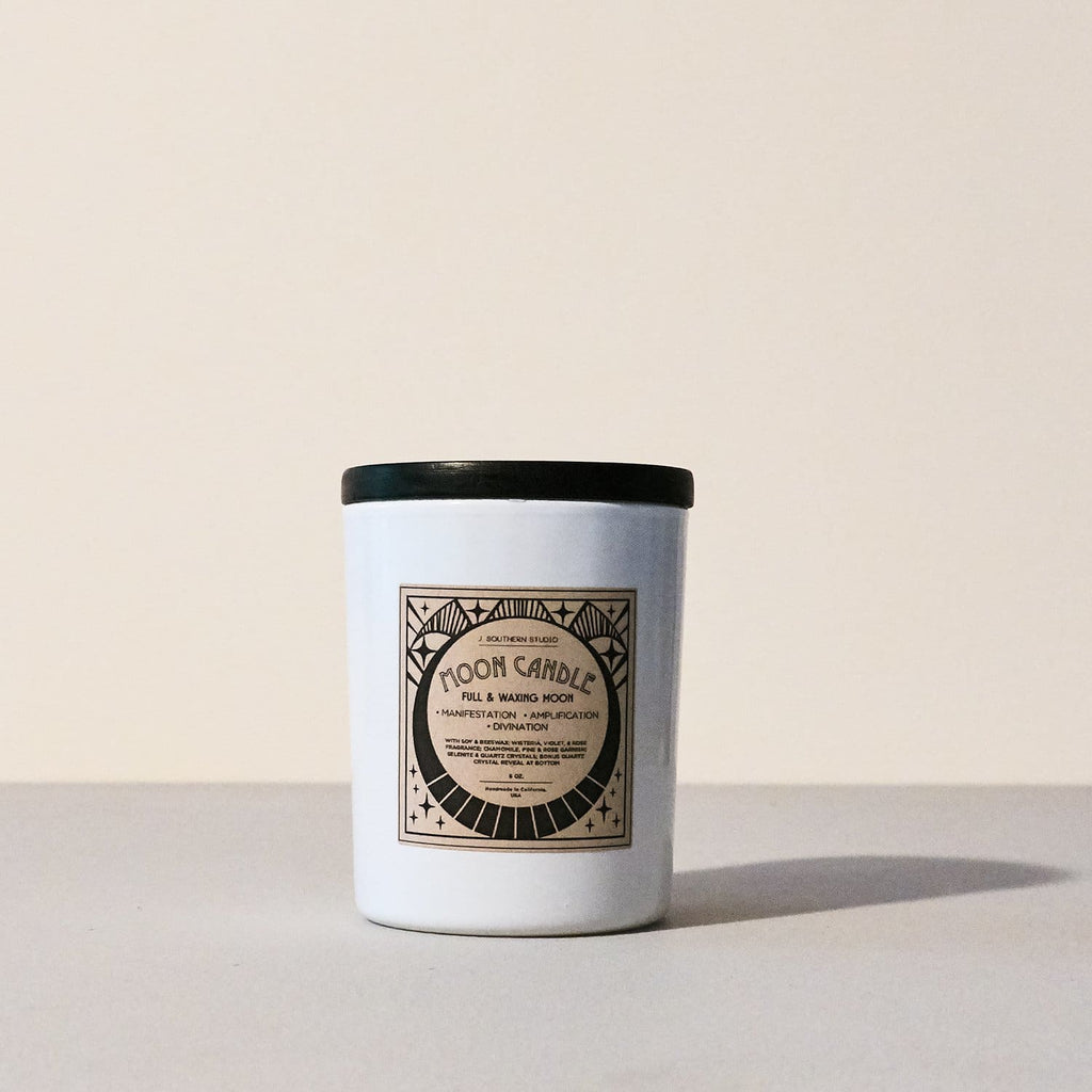 Full & Waxing Moon Candle Candle, full Moon, J Southern