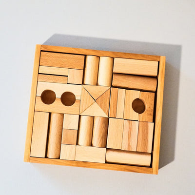 Wooden Baby Building Blocks - Natural