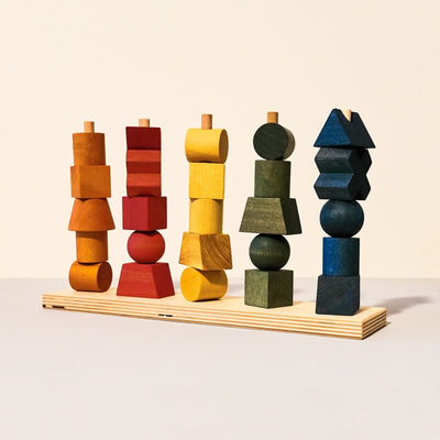 Wooden Baby Building Blocks - Rainbow