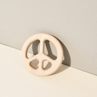 Wooden Peace Baby Teether