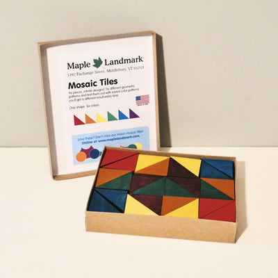 Wooden Rainbow Mosaic Tiles Toy