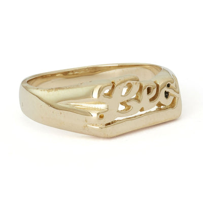 Zodiac Nameplate Rings - Brass