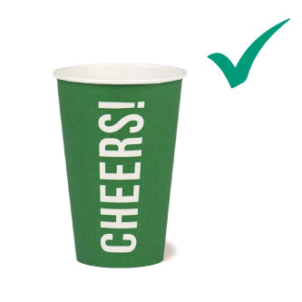 Green Recyclable Paper Cheers Cup