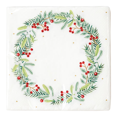 Botanical Berry Wreath Napkin