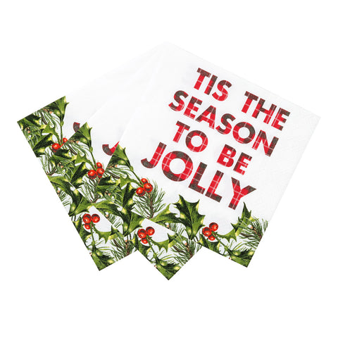 Botanical Santa Cocktail Napkins