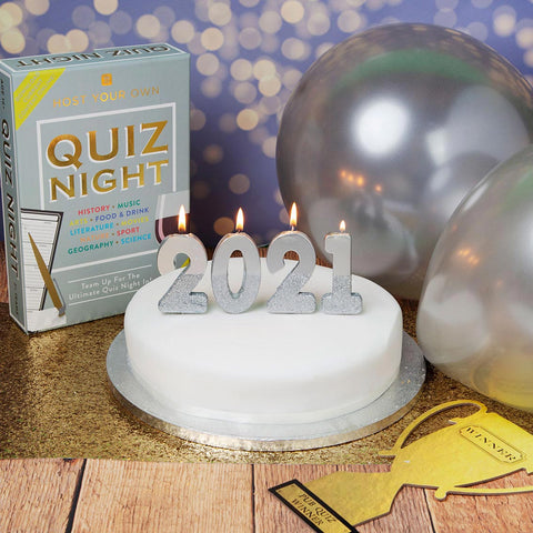 Silver Glitter Number Birthday Candles Starter Set - Numbers 0-9