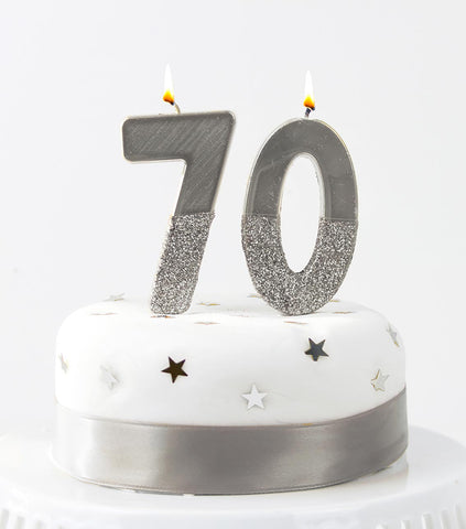 We Heart Birthdays Silver Number Candle Starter Pack