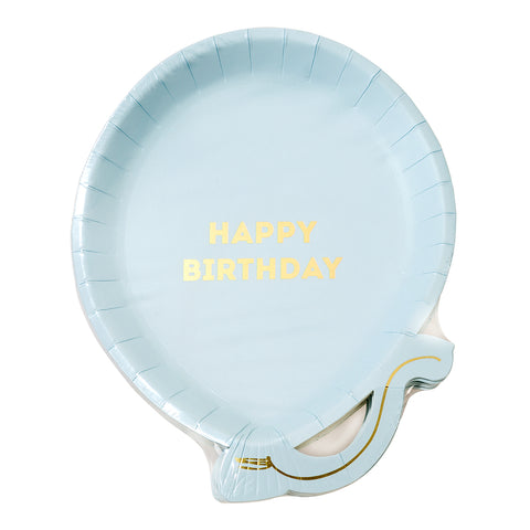 We Heart Birthdays Blue Balloon Plate