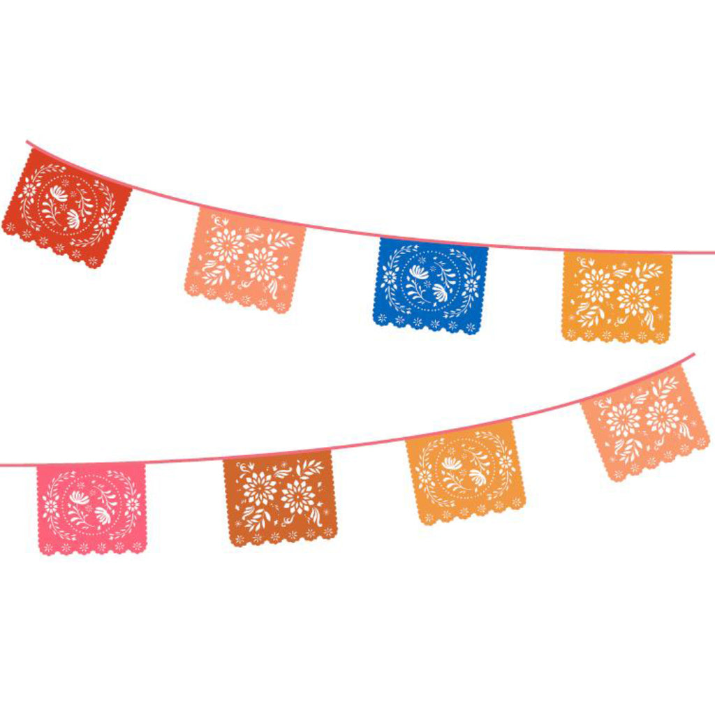 Talking Tables BOHO PAPER RECTANGLE BUNTING 4M  DOUBLE PACK
