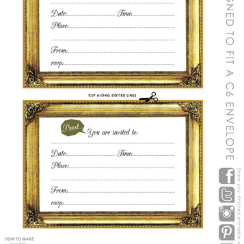Talking Tables Printable - Glitterati Invite