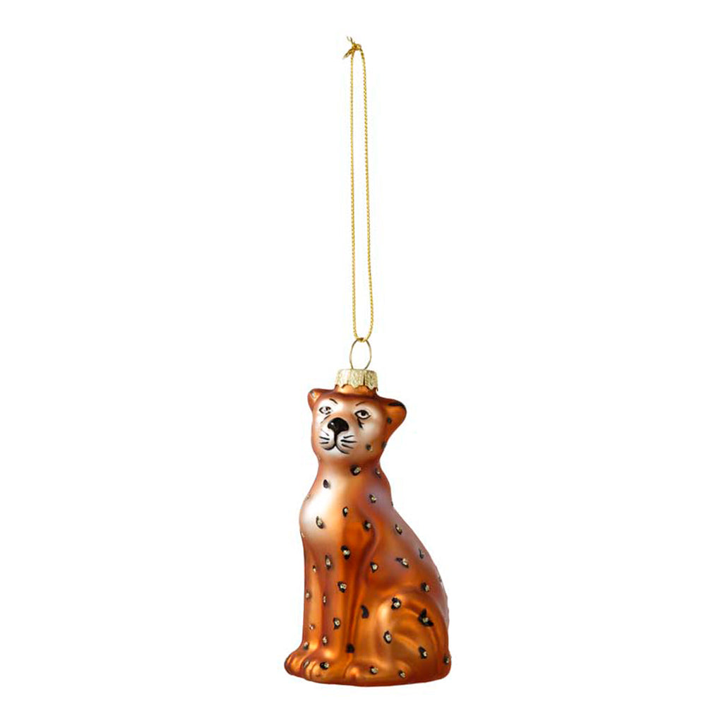 Leopard Glass Tree Decoration