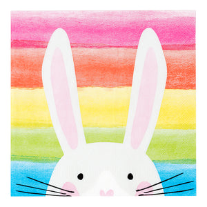 Hop Over The Rainbow Bunny Napkins