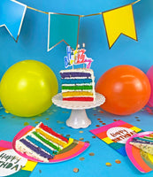 Birthday Brights Rainbow Shaped Plates