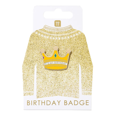 Luxe Gold Crown Enamel Pin Badge