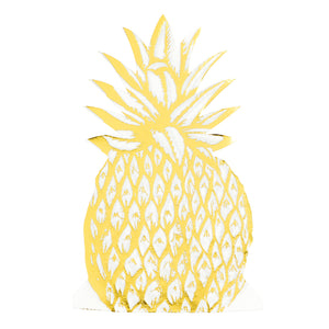 Modern Metallics Pineapple Shaped Napkins