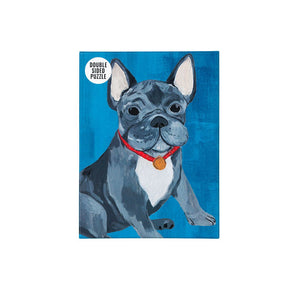 Double Sided French Bulldog Jigsaw Puzzle 100 Pieces