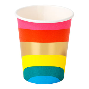 Birthday Brights Rainbow Paper Cups