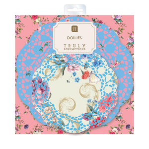 Talking Tables TRULY SCRUMPTIOUS PAPER DOILIES. 24PK, 2 DESIGNS.